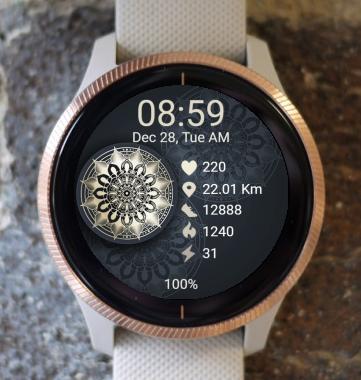Garmin Watch Face - Mandala T14
