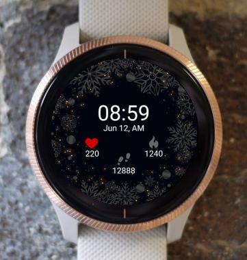 Garmin Watch Face - Dark Christmas G