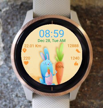 Garmin Watch Face - Happy Bunny