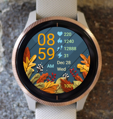 Garmin Watch Face - Autumn Leaves 02