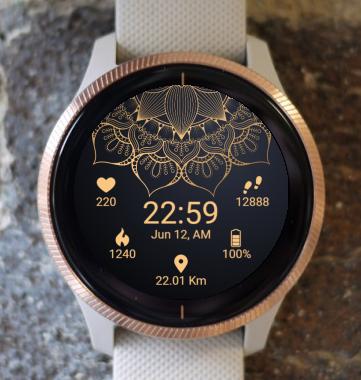 Garmin Watch Face - Mandala Flower G