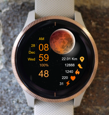 Garmin Watch Face - Moon