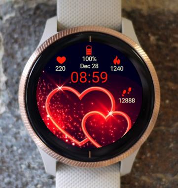 Garmin Watch Face - Hi Love