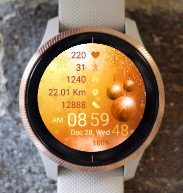 Garmin Watch Face - Golden CTG