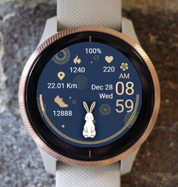 Garmin Watch Face - White Rabbit