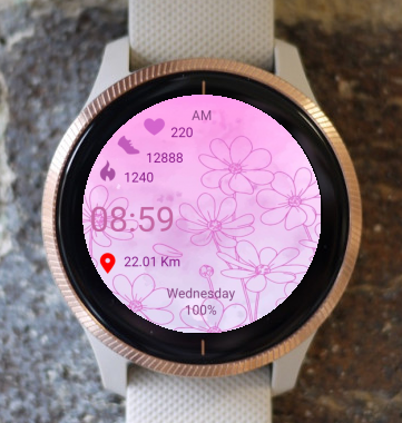 Garmin Watch Face - Bloom01