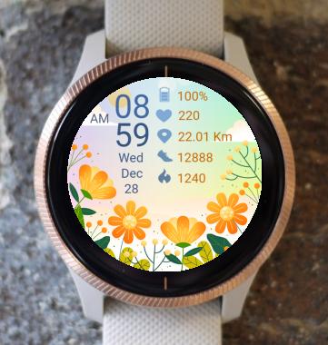 Garmin Watch Face - Hello Spring