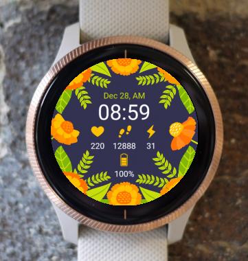 Garmin Watch Face - Floral Nature G