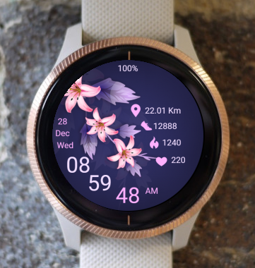 Garmin Watch Face - Spring is Here