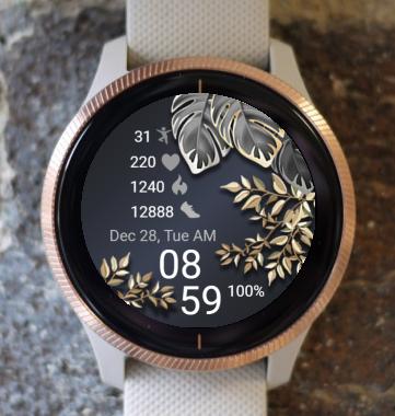 Garmin Watch Face - Dark and Gold