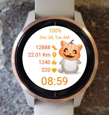 Garmin Watch Face - Halloween Cat Two