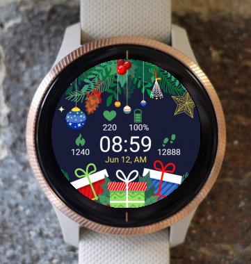 Garmin Watch Face - Christmas Trees G