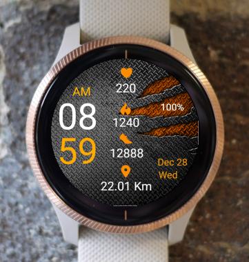 Garmin Watch Face - Metal Scratch