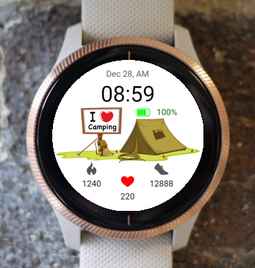 Garmin Watch Face - I love camping