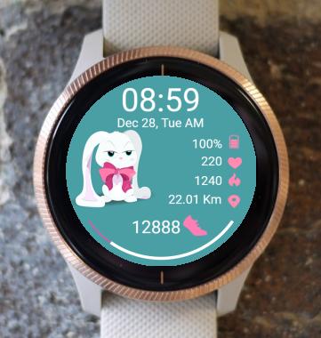 Garmin Watch Face - White Bunny