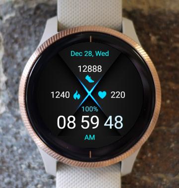 Garmin Watch Face - Blue Neon