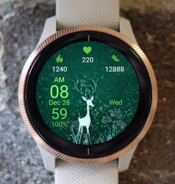 Garmin Watch Face - Deer