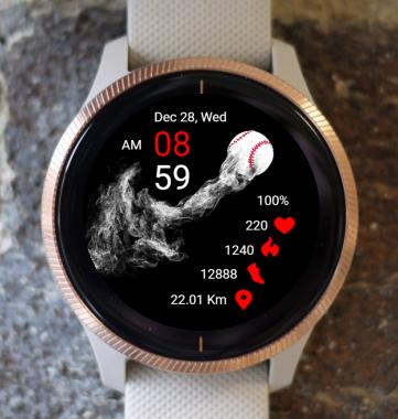 Garmin Watch Face - Baseball 03