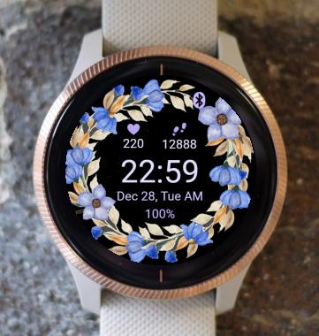 Garmin Watch Face - Autumn Flowers