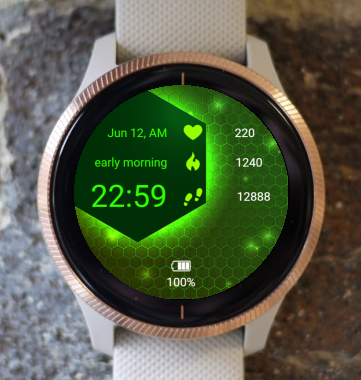 Garmin Watch Face - Neon
