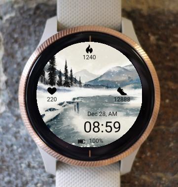 Garmin Watch Face - Winter landscape
