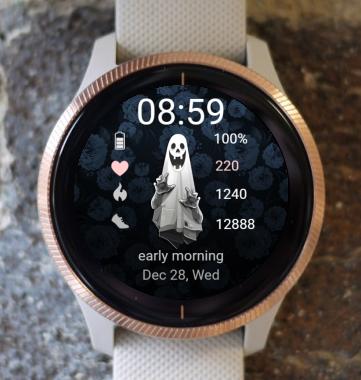 Garmin Watch Face - Ghost Time
