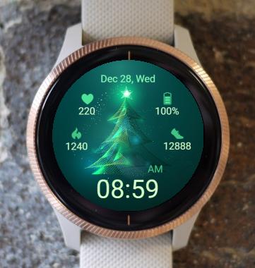 Garmin Watch Face - Green CT 01