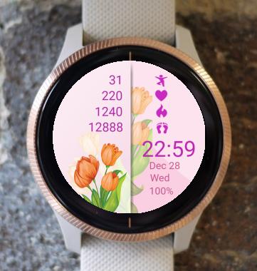 Garmin Watch Face - Tulip