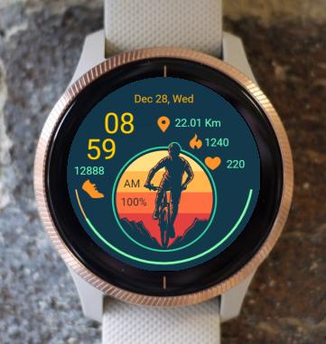 Garmin Watch Face - OffRoad Cycling 02