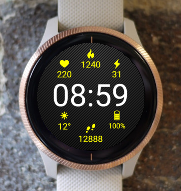 Garmin Watch Face - Digital Weather G