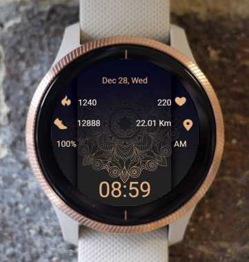 Garmin Watch Face - Mandala T10