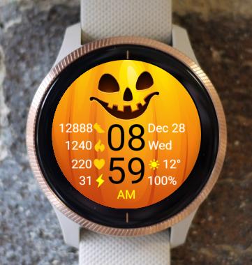 Garmin Watch Face - Pumpkin Autumn