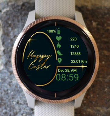 Garmin Watch Face - In Gold Color