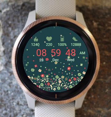 Garmin Watch Face - Spring Meadow