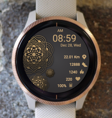 Garmin Watch Face - Mandala G15