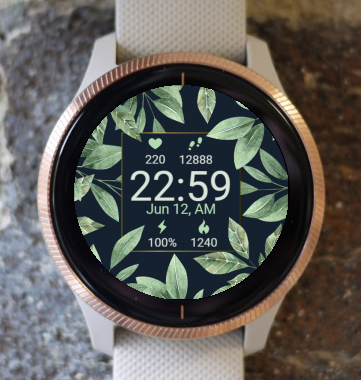 Garmin Watch Face - Flower Leaves G