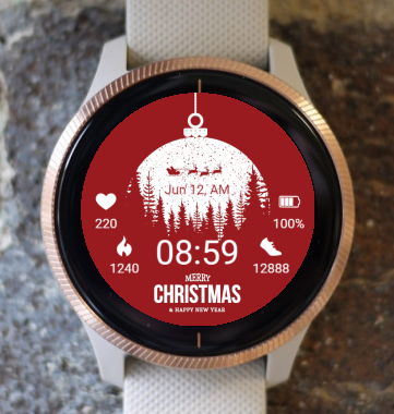 Garmin Watch Face - Christmas sphere