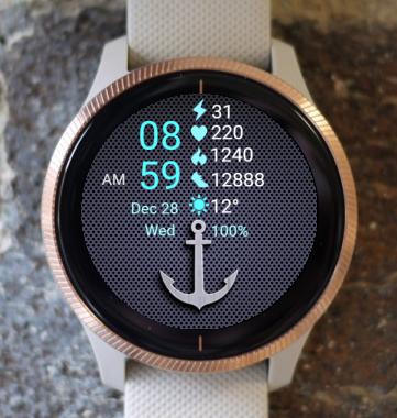 Garmin Watch Face - Anchor
