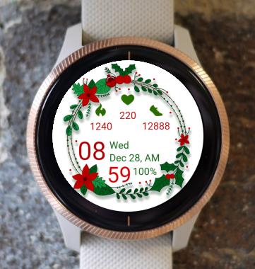 Garmin Watch Face - Christmas Circle