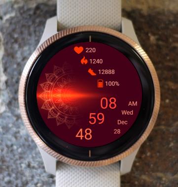 Garmin Watch Face - Mandala G4