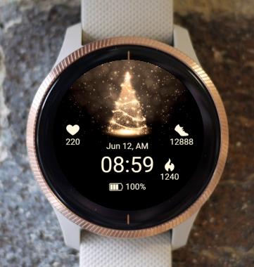 Garmin Watch Face - Christmas lights