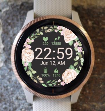 Garmin Watch Face - Roses