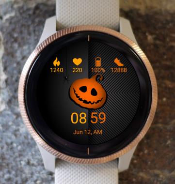 Garmin Watch Face - Pumpkin Head