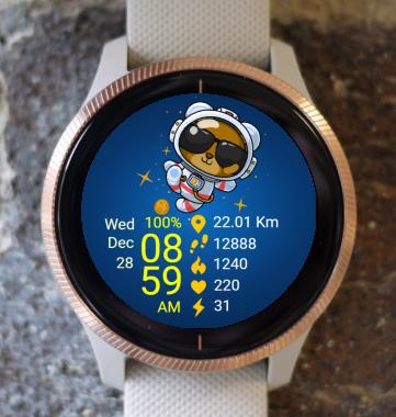 Garmin Watch Face - AstroBear