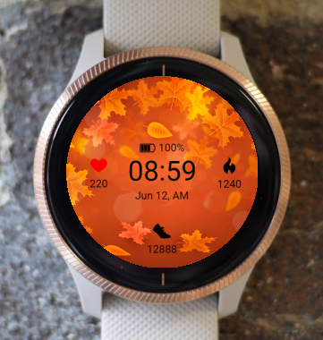 Garmin Watch Face - Thanksgiving leaves