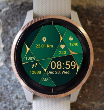 Garmin Watch Face - Green Wood