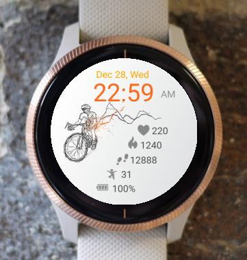 Garmin Watch Face - Bicycle