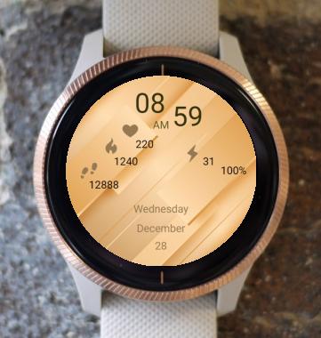 Garmin Watch Face - Gold