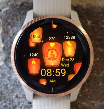 Garmin Watch Face - Orange Lampion