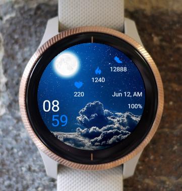 Garmin Watch Face - Full Moon